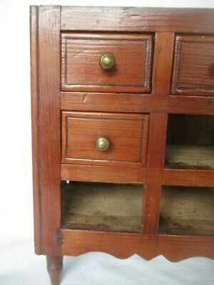 Victorian Pine Miniature Apprentice Chest Of Drawers - Incomplete