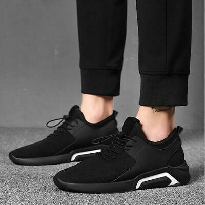 Men's Athletic Sneakers Trainer sports Breathable Running walking shoes black