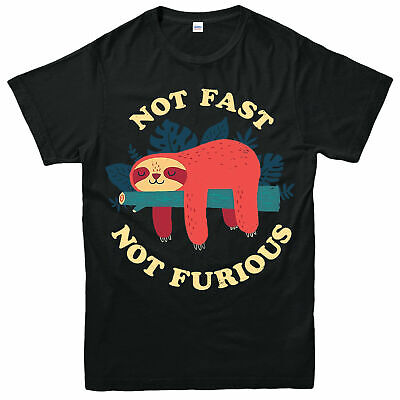 Sloth Not Fast Not Furious T-Shirt, Funny Short Sleeve Adult & Kids Tee Top