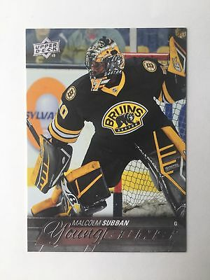 2015-16 Upper Deck Young Guns Rookie Card Malcolm Subban #211 Rc +Combined S&H
