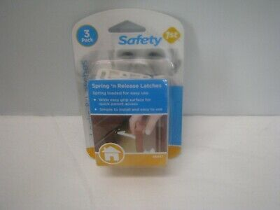 Safety First Locks and Latches Spring and Release Three pack NEW