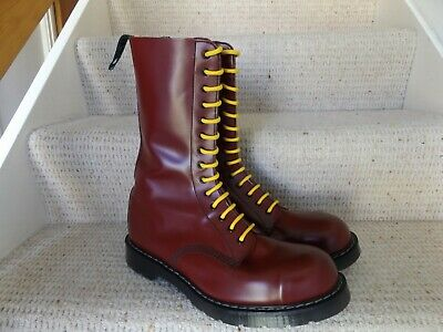 DR MARTENS SOLOVAIR MADE IN ENGLAND Oi! SKINHEAD OXBLOOD RED 14 HOLE UK 12