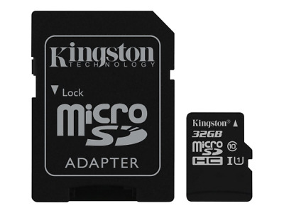 Kingston 32GB 64GB Micro SD Speicherkarte Kamera, Handy, Video inkl. Adapter