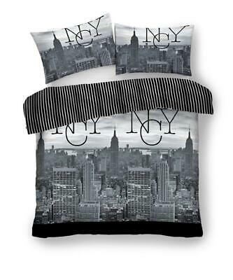 New York City (NYC) Grey/Black Luxury Duvet Covers new Quilt Covers Bedding Sets