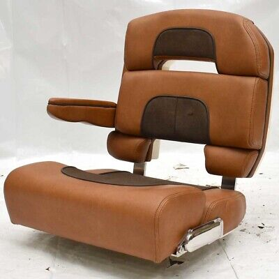 Astonishing Scout Boat Bench Seat Dual Bolster Brown Faux Leather Dailytribune Chair Design For Home Dailytribuneorg