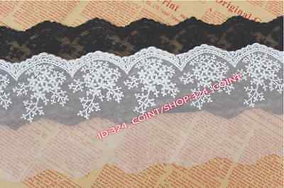 HB166B 1 yards Tulle Lace Trim Ribbon Appliques Embroidered Handicrafts Sewing