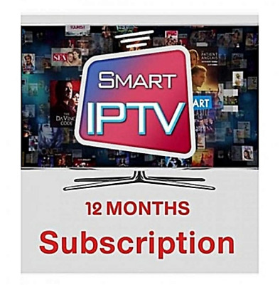 12 MONTHS IPTV Subscription USA ARABIC FRANCE PORTUGAL SWEDEN CHANNELS + VOD