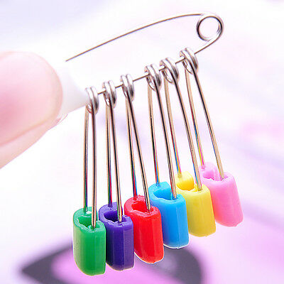 10Pcs/Lot Baby Diaper Pins Holder Safety Shower Locking Cloth Nappy Hold Clip AU