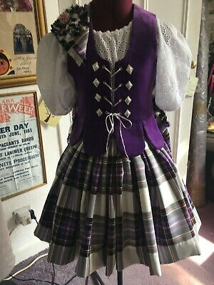 Girls New Full Highland Dance Aboyne Outfit & Brooch. £135
