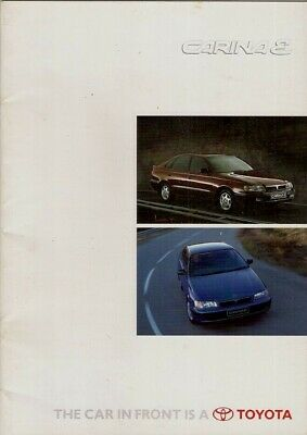 Toyota Carina E 1996-97 UK Market Sales Brochure S GS CD GL CDX