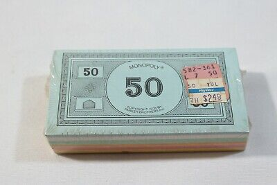 Monopoly Classic PLAIN Money 1952-1984 Vintage Replacement Pieces Free Shipping