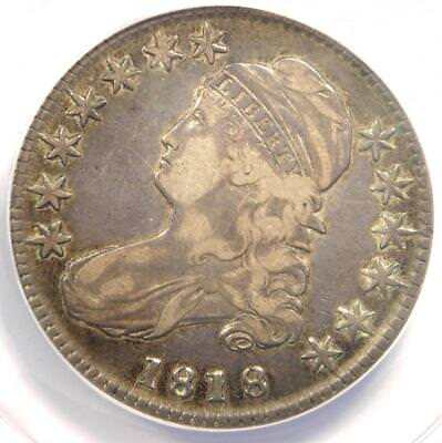 1818 Capped Bust Half Dollar 50C O-108 - ANACS VF35 - Rare Date - Certified Coin