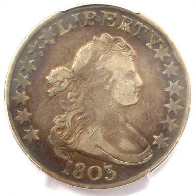 1803 Draped Bust Half Dollar 50C - PCGS VF Details - Rare Certified Coin!
