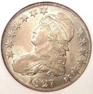 1827 Capped Bust Half Dollar 50C O-139 R4 Rarity-4 - NGC AU55 PQ - Near MS UNC!