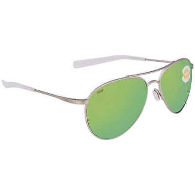 ea22bddd23b2 Costa Del Mar Piper Green Mirror 580P Polarized Aviator Ladies Sunglasses  PIP
