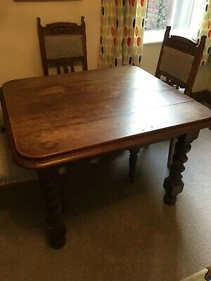 Oak 1930s Edwardian Style Table And Chairs 1 00 Picclick Uk
