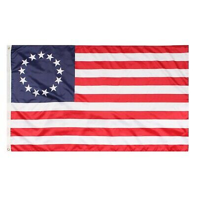 Betsy Ross 3x5 ft Poly Banner Flag 13 Stars 1776 American Colonial
