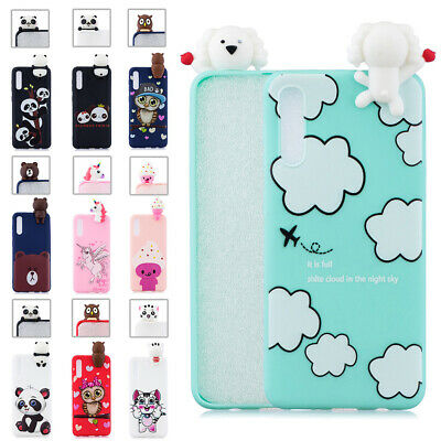 3D Silicone Cute Cartoon Soft TPU Case Cover for Samsung A50 A30 A10 M20 A9 2018