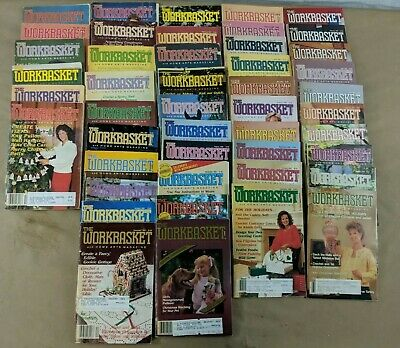 Lot- 80 Vintage Issues The Workbasket Magazine from 1983-1996 B1