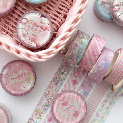 DIY 1.5cm Wide Pink Unicorn Sky Cartoon Washi Tape Scrapbooking Stickers Gifts