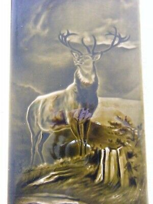 "Sherwin and Cotton, STAG Tile by George Cartlidge. size 12"" x 6""."