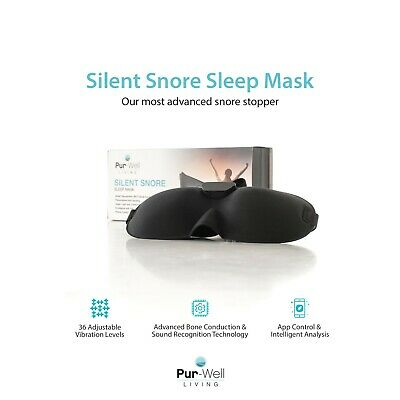 Pur Silent Snore Stopping Sleep Mask - Anti Snoring Mask - Smart Snore Stopper
