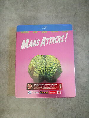 "Mars Attacks! ""Edition Collector Steelbook"" - Bluray - Neuf Sous Blister"