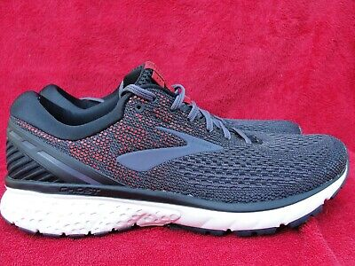 7e0802630bf9c BROOKS MENS GHOST 11 Black/Graystone/Cherry Running Shoes SIZE 10.5 (D)