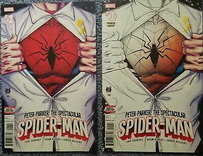 9.8 NM/M: Spectacular Spider-Man #1 Trade Cover and Premiere Store Variant 2017!