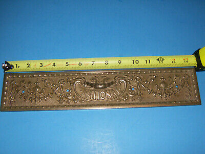 Antique Brass National Cash Register 300 Class nickel Drawer Front NCR