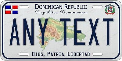 Dominican Republic Personalized Any Text Novelty Auto Car License Plate Bicycle