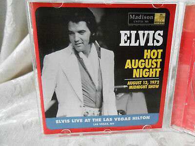 Elvis Presley - Hot August Night 1972 Live Cd Madison
