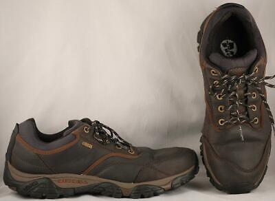 Mens Merrell Select Dry Espresso Brown Leather Low Top Hikers US 14 UK 12 EUR 49