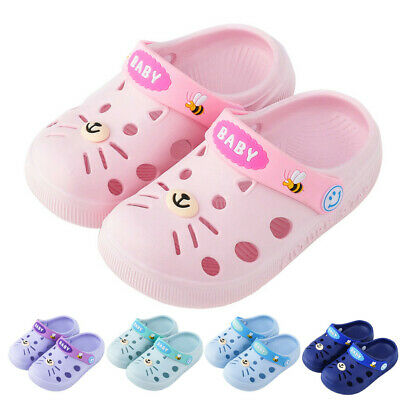 Toddler Baby Kids Girls Boys Breathable Home Slippers Floor Hole Shoes Sandals