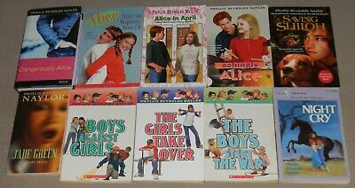 Lot 10 PHYLLIS REYNOLDS NAYLOR Chapter Books Boys vs Girls, Saving Shiloh, Alice