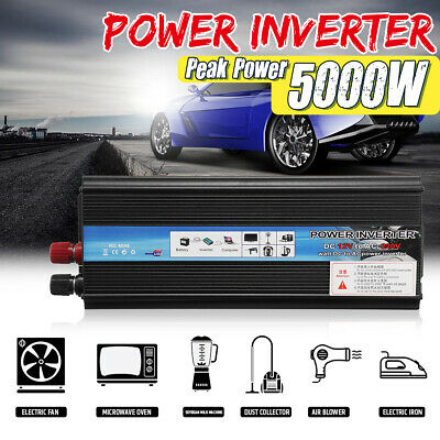 5000W Car Solar Power Inverter 12/24V DC to 110/220V AC Sine Wave 🔥