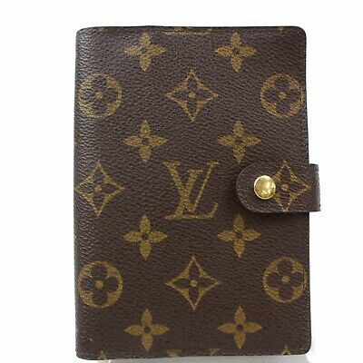 Authentic Louis Vuitton Diary Cover Agenda PM Browns Monogram 306253