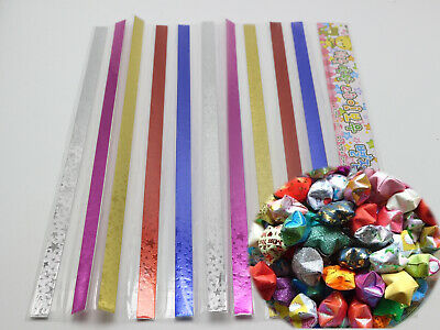 250 Strips Shinny Folding Paper Lucky Wish Star Cute Origami Paper Scrapbook