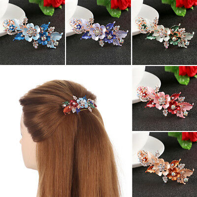 Women  Headwear Accessories  Flower Barrettes  Crystal Hair Clip Cute Hairpin