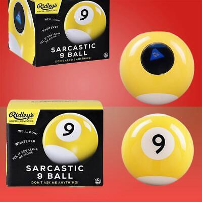 Sarcastic Magic 9-Ball: Like The 8-Ball But Meaner!