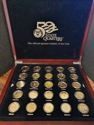 USA - STUNNING 50x STATE QUARTERS in lovely Display Box