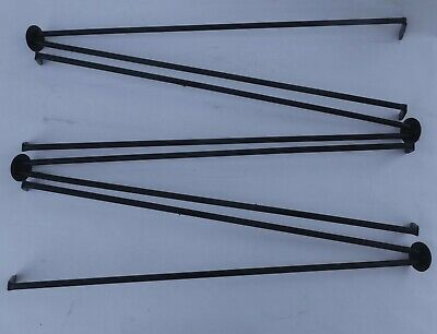 Original Mid Century Modern Cast Iron Hairpin Legs Restored 24""