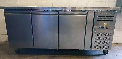 GN3100 TN MOBILE 3 Door UNDER BENCH FRIDGE commercial Restaurant Cafe 1800mm