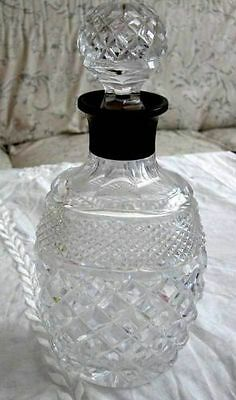 Antique U.k Sterling Silver And Cut Glass Decanter 1928