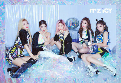 ITZY [IT'Z ICY] Album ICY Ver CD+Foto Buch+1st Page+2p Karte KPOPSEALED