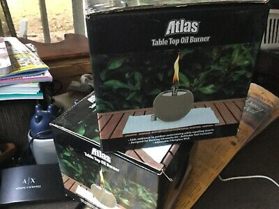 Atlas Table top Oil Burner for citronella oil, New in Box never used 2 available