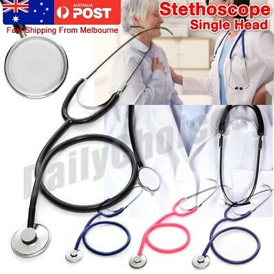 Single Doctor Aid Headed Stethoscope Tool Medical Monitor Accessory Vet