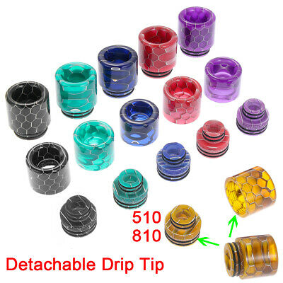 510/810 Drip Tip Epoxy Resin Snake Skin Mouthpiece Cap for Zues X TFV8 Baby New