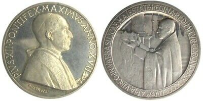 MEDAL - Pope Pius XII - Year XVII 1955 - VATICAN CITY - Marian Year - Silver UNC