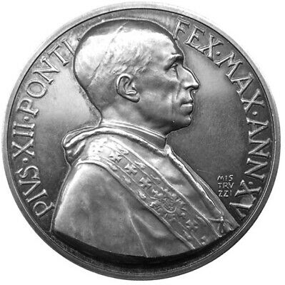 MEDAL - Pope Pius XII - XV Year 1953 - VATICAN CITY - 1953 Consistory - silver